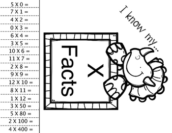 Multiplication Facts Exit Tickets Free Sample by Fourth
