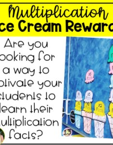 Multiplication facts ice cream rewards pack also reward teaching resources teachers pay rh teacherspayteachers