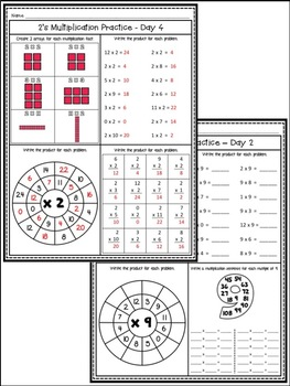 Multiplication Facts Worksheets / Anchor Charts