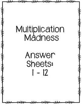 Multiplication Madness Challenge: Multiplication Family