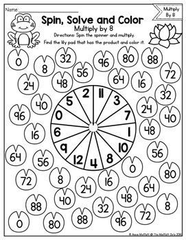 Multiplication: Spin, Solve and Color by The Moffatt Girls
