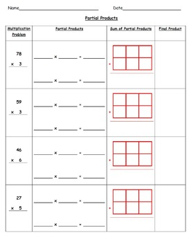 Common Core Aligned Multiplication Using Partial Products