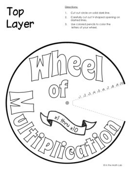 Multiplication Wheel and Spin the Wheel Puzzle Set 1 by In