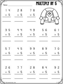 2 Digit By 1 Digit Multiplication Worksheets-Distance