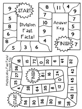 Multiplication and Division Board Games by The Busy Class