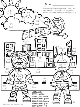 Multiplication and Division Practice pages--Superhero