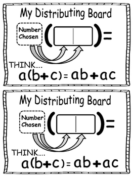 Multiplication and The Distributive Property~ Games For