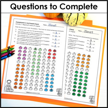 Multiplication in the Pumpkin Patch by Mitchell MATH