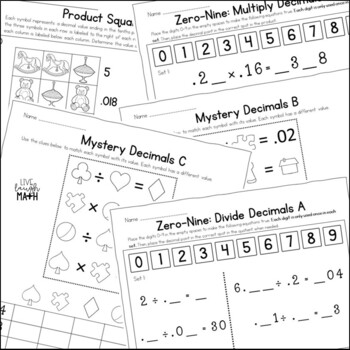 Multiply & Divide Decimals Enrichment: Decimals Logic