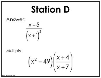 Multiply and Divide Rational Expressions Scavenger Hunt by