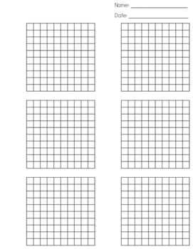 Multiplying Decimals Hundredths Grid by Two Peas in a 5th