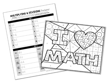 Multiplying and Dividing Fractions Coloring Activity by