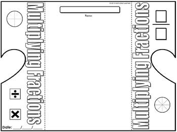 Multiplying Fraction Foldable Graphic Organizer by