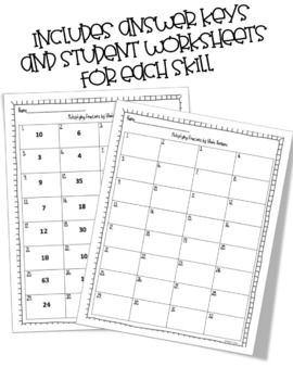 Multiplying Fractions by Whole Numbers Task Cards by Apple