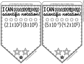 Multiplying Scientific Notation Pennant by Scaffolded Math