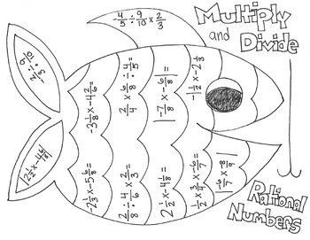 Multiplying and Dividing Rational Numbers Coloring Page by