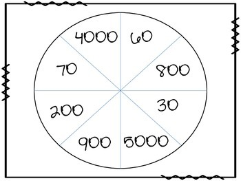 Multiplying by 10, 100 and 1,000 Tic-Tac-Toe by Geek4Math