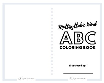 Multisyllabic Word ABC Coloring Book by Bay Area Autism