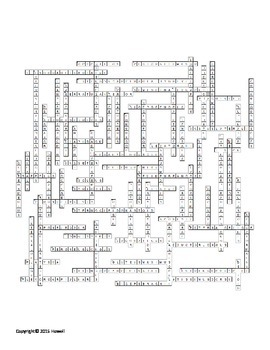 Muscles of the Body Crossword by Everything Science and