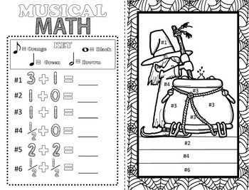 Music Coloring Pages (16 Halloween Music Coloring Sheets