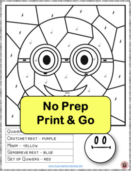 Music Colouring Sheets: 26 Smiley Faces Music Colouring