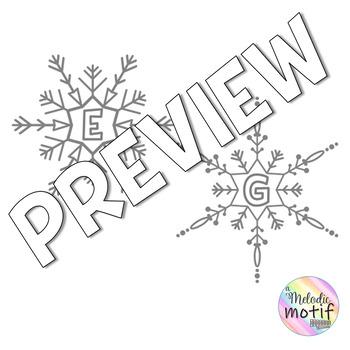 Music Staff Bulletin Board: Snowy Staff Theme by A Melodic