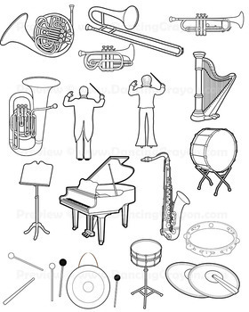 Musical Instruments: Orchestra Instruments Clip Art by