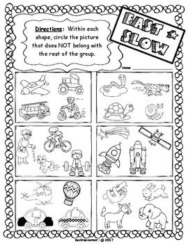 Musical Opposites Concepts Packet: Set 1-Fast vs. Slow