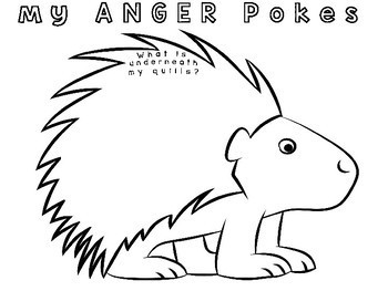 ANGER Porcupine Pokes: Flip Book Art Craft by Mental Fills