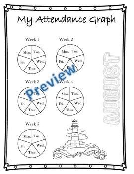 My Attendance Tracker (editable) by 2nd Grade Shenanigans