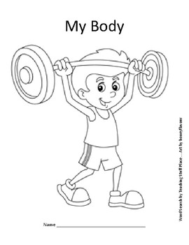 My Body Word Search Puzzle and Coloring, Grades 1-2