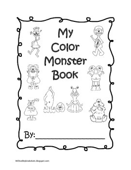 My Color Monster Coloring Book by Wills Valley Kinder Kats