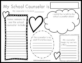 My Counselor Activity Sheet- Savvy School Counselor by