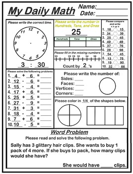 My Daily Math Warm Ups/Refreshers by Head heart and Art