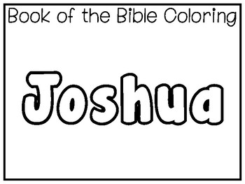 My Favorite Book of the Bible-Joshua Tracing Worksheets