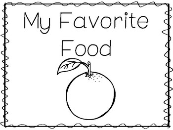 My Favorite Food-Orange Preschool Trace and Color
