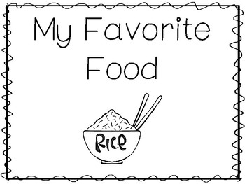 My Favorite Food-Rice Preschool Trace and Color Worksheets