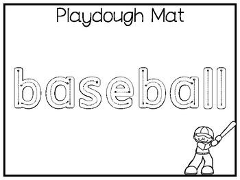 My Favorite Sport-Baseball Preschool Worksheets and