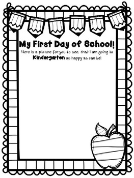 My First Day of School Drawing by From the World of Mrs