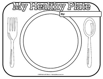 My Healthy Plate: A Healthy Diet Nutrition Activity by