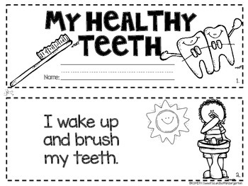 My Healthy Teeth! A Dental Health Emergent Reader FREEBIE