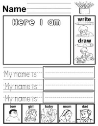 My Name Writing worksheet by ESL Kidz