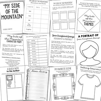 MY SIDE OF THE MOUNTAIN Novel Study Unit Activities