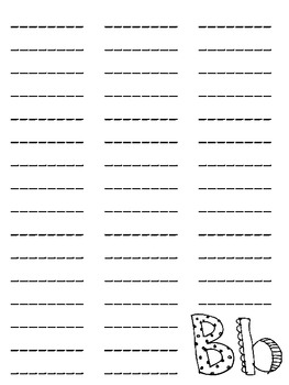 My Spelling Dictionary--Blank Page Layouts A-Z--FREE by