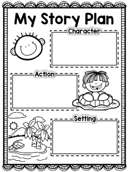 My Story Plan {Graphic Organizer} Character Action Setting