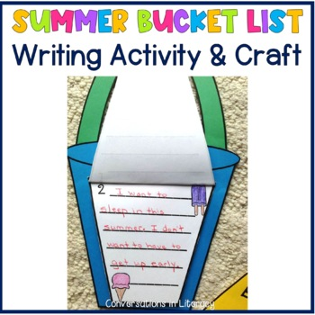 My Summer Bucket List Writing and Craft Activity by