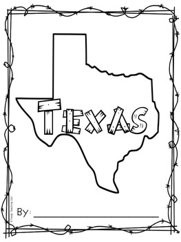 My Texas Book Symbols and Facts for Pre-K and Kinder by