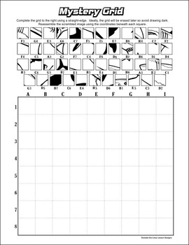 Mystery Grid Drawing Worksheets Printables Sketch Coloring