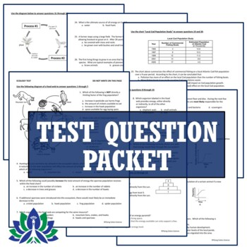 Ecosystems Ecology Test Assessment Middle School NGSS