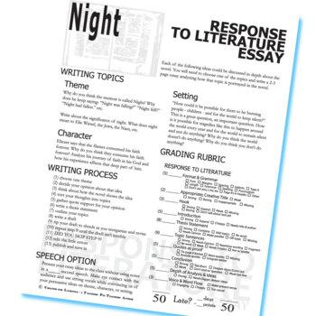 5 Paragraph Essay Night Elie Wiesel — Pourquoi partir avec